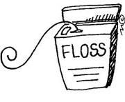 Dental floss toothpick